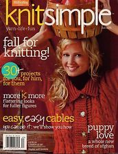 Knit,Simple,Fall,2006,Knit Simple Fall 2006,kg krafts,knit, patterns,crochet