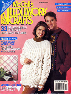 McCalls,Needlework,and,Crafts,February,1991,McCalls Needlework & Crafts February 1991,kg krafts,knit,crochet,craft, patterns