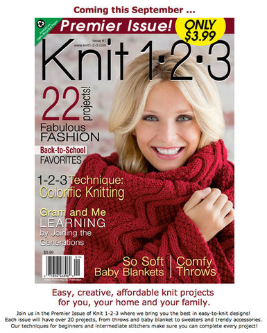 Knit,1.2.3,Premier,Issue,issue,1,Knit 1.2.3,Premier Issue issue 1,knit,crochet,kg krafts,sweaters,afghans,patterns