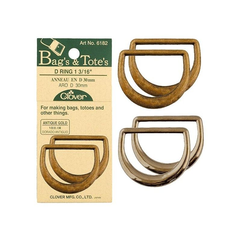 3/4 inch D-Ring from CLover Bag and Totes Collection - product images