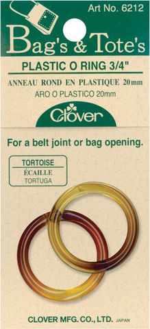 Clover,Plastic,O-Rings,in,three,colors,dritz,o rings,kg krafts,purse supplies,craft supplies,sewing,knitting,crochet