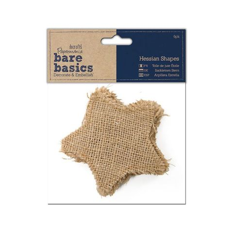 Bare,Basic,Hessian,Shape,Stars,bare basics,mini bunting,hessian shape, stars,kg krafts,do crafts,craft supplies,scrapbook supplies, card making