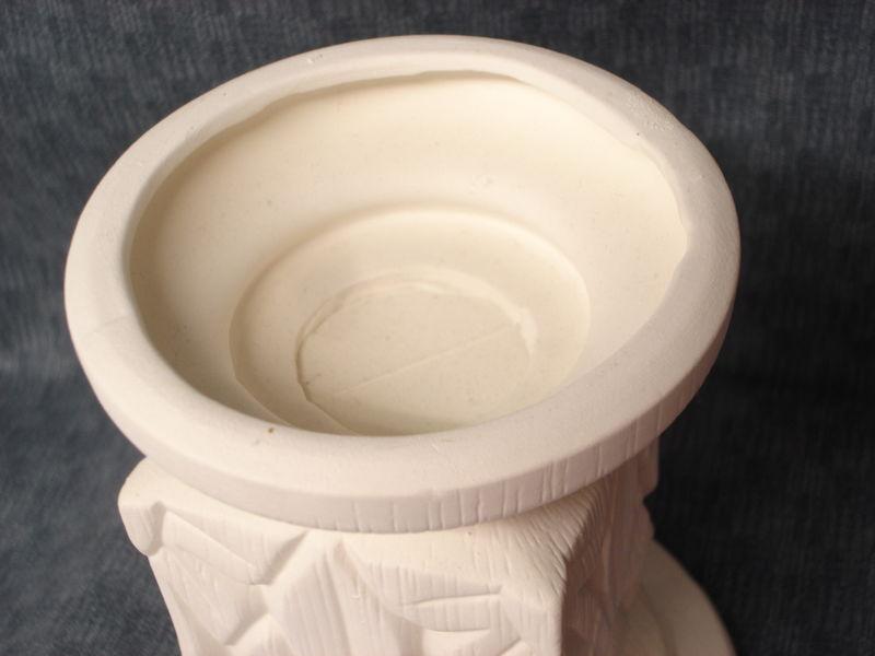 Sunburst Candle Holder Ceramic Bisque Ready to Paint