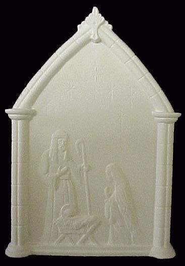 Nativity Plaque in Ready to Paint Ceramic Bisque - product images