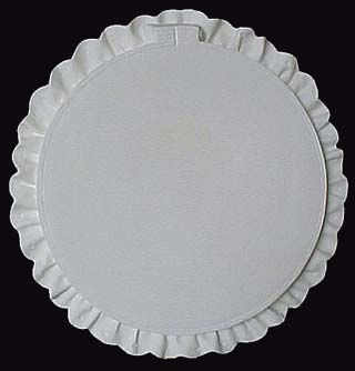 Round Hoop with Ruffled Edge Wall Decor in Ready to Paint Ceramic Bisque - product images