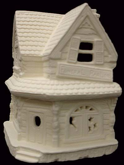 Scioto Haunted Funeral Village House in Ready to Paint Ceramic Bisque - product images