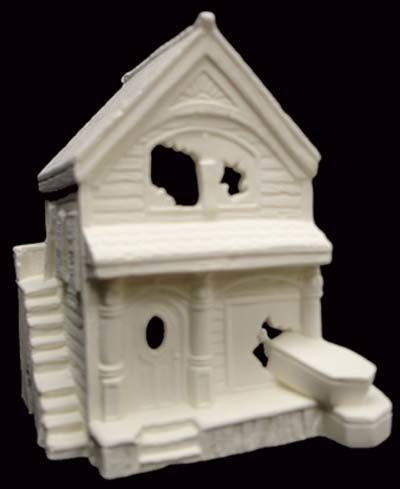 Scioto Haunted Casket Shop Village House in Ready to Paint Ceramic Bisque - product images