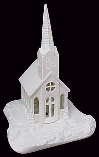 Scioto Church  in Ready to Paint Ceramic Bisque - product images