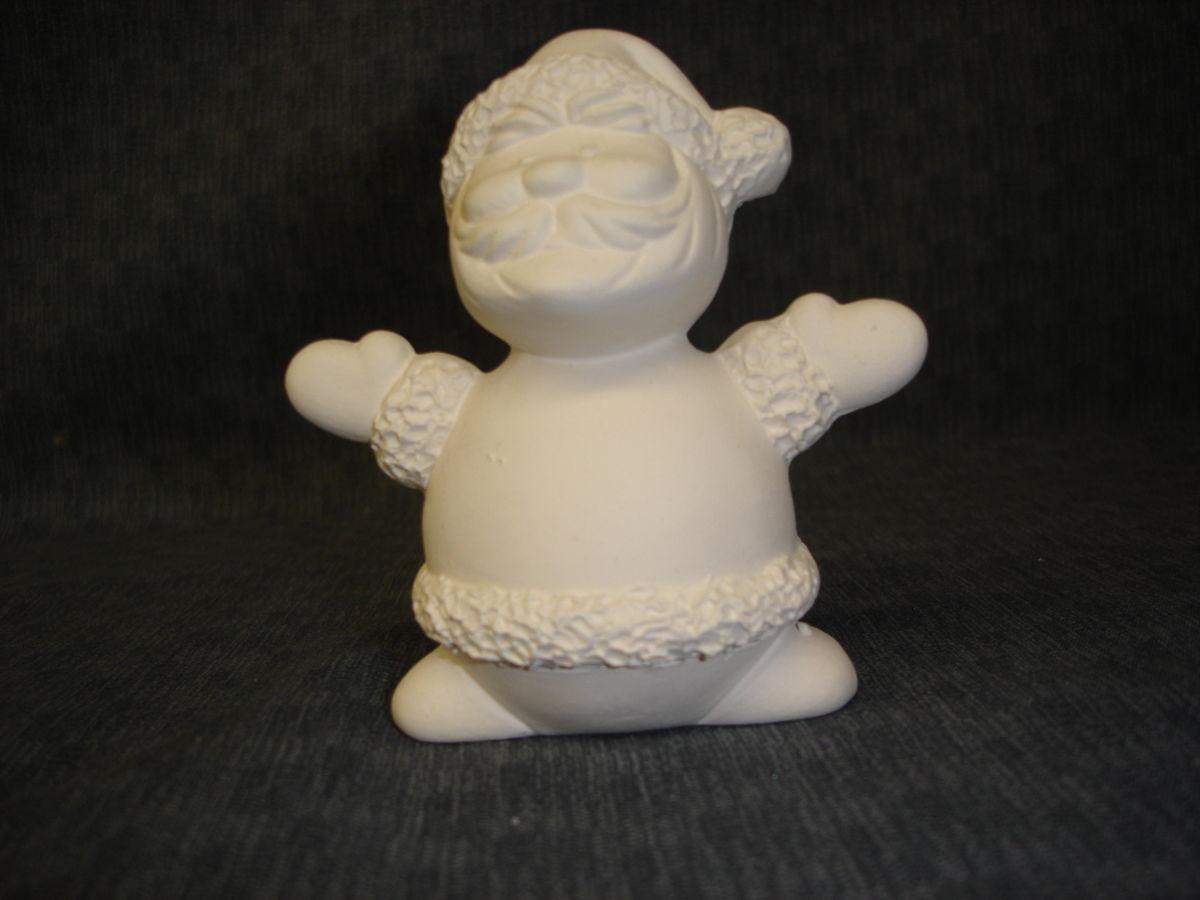 Santa ceramic bisque ready to paint kgkrafts 39 s boutique for Bisque ceramic craft stores