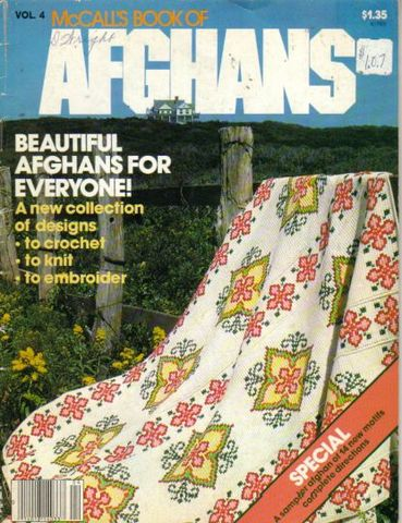 McCall's,Book,of,Afghans,no,4,McCall's Book of Afghans no 4,kg krafts,quilts, coverlets, knit,crochet,embroider