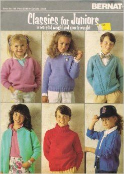 Bernat,Classics,for,Juniors,in,Worsted,and,Sports,Weight, Classics for Juniors, Worsted yarn,Sports Weight yarn,patterns,sweaters,children,kg krafts