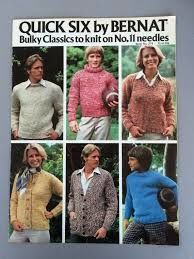 Quick Six by Bernat Bulky Classics to Knit on no.11 needles - product images