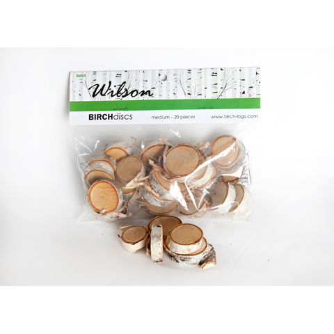 Wilson Evergreens Medium Birch Discs - Assorted Sizes - 20 pieces - product images