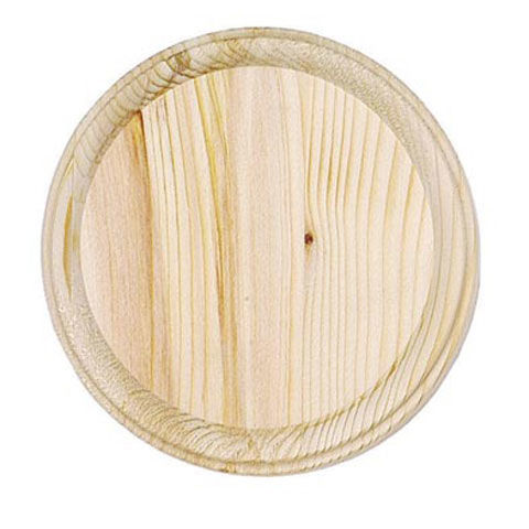Wood Plaque - round - 5 inches - product images
