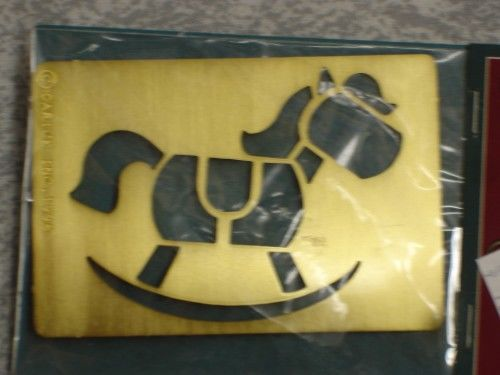 Darice Genuine Brass Embossing Stencil  Rocking Horse 1020-60 - product images