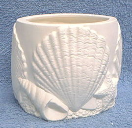 Sea,Shell,Candle,Holder,Sea Shell,tea light,candleholder, ceramic bisque,bisque,ready to paint,kg krafts,painting surface
