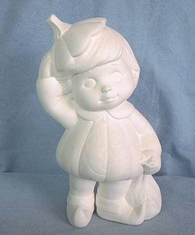 Pumpkin,Boy,7.5,Tall,Dona,Molds,dona molds,pumpkin boy,ceramic bisque,bisque,ready to paint,kg krafts,painting surface