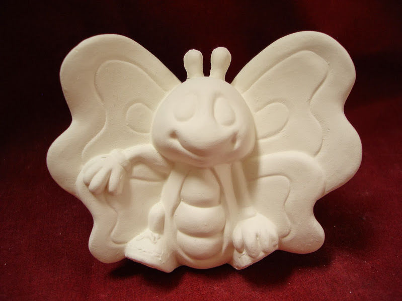 Butterfly Cutie from Clay Magic Ceramics Bisque Ready to Paint - product images
