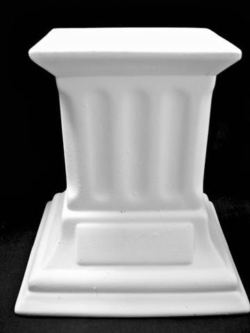 Column,Unpainted,Ceramic,Bisque,ceramic bisque,ready to paint,ceramics, bisque,kg krafts,column,stand