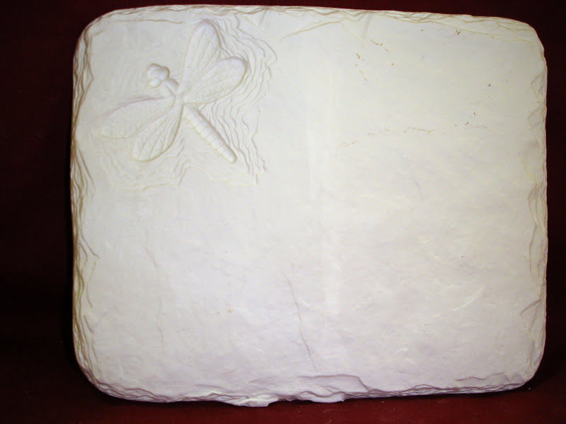 DragonFly Plaque from Riverview Ceramics Bisque Ready to Paint - product images