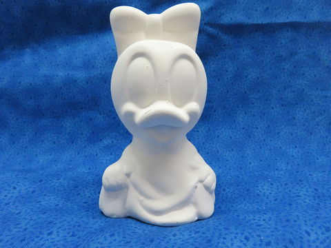 Baby,Daisy,Duck,Ceramic,Bisque,Disney, Daisy Duck, ceramic bisque, ready to paint,kg krafts,shower favors