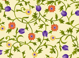 Sweet Nectar Flower Vine by Quilting Treasures   - product image