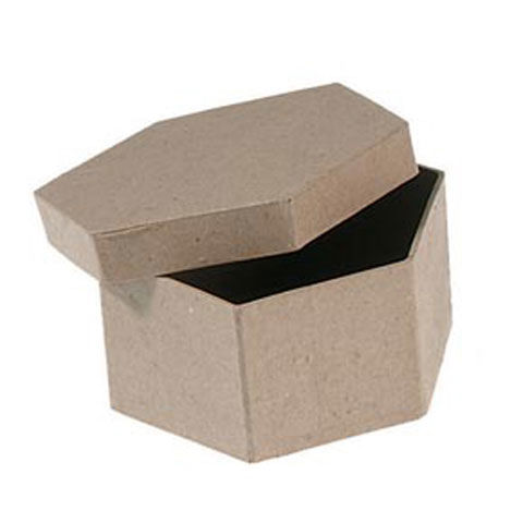 4,inch,Hexagon,Box,hexagon,paper mache, crafts, painting surface, oval box, box, craft supplies, kg krafts, darice