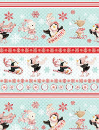 Peppermint Penguins by Lucie Crovatto for Studio E Fabrics  - product image
