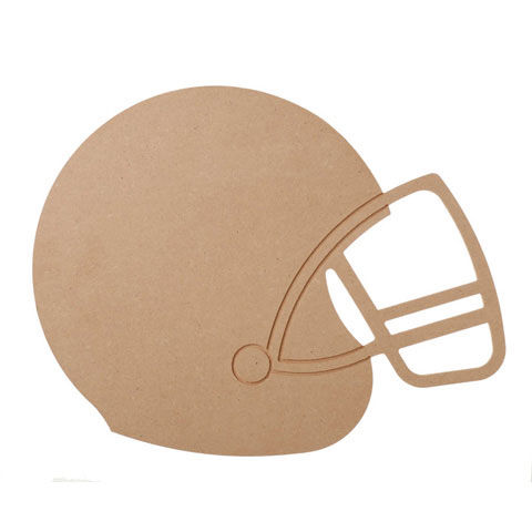 MDF Wood Shape - Football Helmet  - product images
