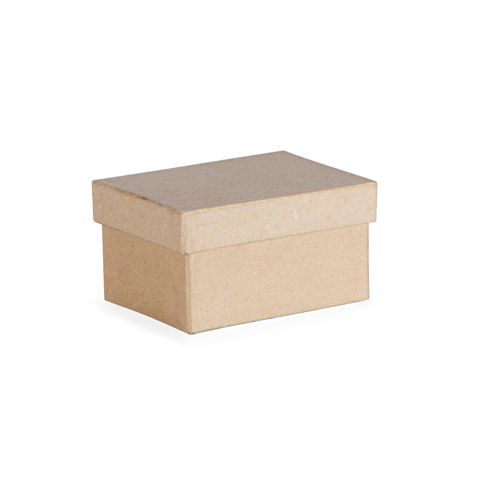 Small Paper Mache Box: Rectangle-Shaped, 3 x 1.5 inches - product images