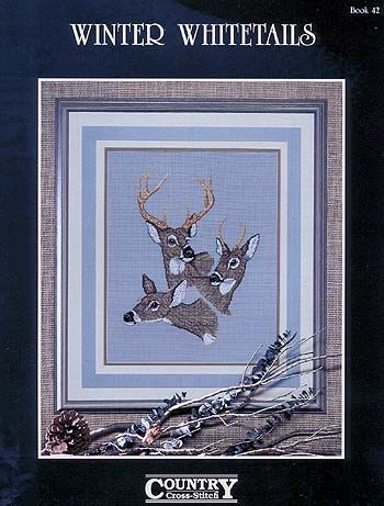 Winter,Whitetails,book,42,Country,Cross,Stitch,Winter Whitetails book 42  Country Cross Stitch,kg krafts,knit,sweaters,aran, cable knit