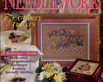 Better,Homes,and,Gardens,Cross-Stitch,Needlework,April,1997,Better Homes and Gardens Cross-Stitch and Needlework April 1997, cross stitch, classic cross stitch, needle arts,kg krafts,needle arts