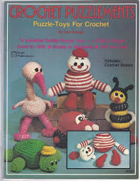 Crochet,Puzzlements,Puzzle,Toys,for,by,Sue,Penrod,Crochet Puzzlements Puzzle Toys for Crochet by Sue Penrod ,vintage,crochet, pat thom, love me dolls,kg krafts,yarn dolls, craft supplies,crafts,supplies,indie supplies