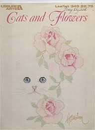 Cats,and,Flowers,By,Harrison,Leisure,Arts,Leaflet,349,Cats and Flowers By Harrison Leisure Arts Leaflet 349,vintage,crochet, pat thom, love me dolls,kg krafts,yarn dolls, craft supplies,crafts,supplies,indie supplies