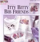 Itty,Bitty,Bib,Friends,Leisure,Arts,83045,Itty Bitty Bib Friends Leisure Arts  83045,vintage,crochet, pat thom, love me dolls,kg krafts,yarn dolls, craft supplies,crafts,supplies,indie supplies