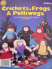 Crickets,,Frogs,,and,Polliwogs,by,Wee,Blinks,Crickets, Frogs, and Polliwogs by Wee Blinks, kg krafts,yarn dolls, craft supplies,crafts,supplies,indie supplies