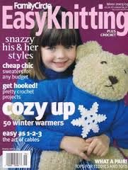 Easy,Knitting,Family,Circle,Winter,2003/2004,Easy Knitting  Family Circle  Winter 2003/2004, patterns, knits, crochet, instructions