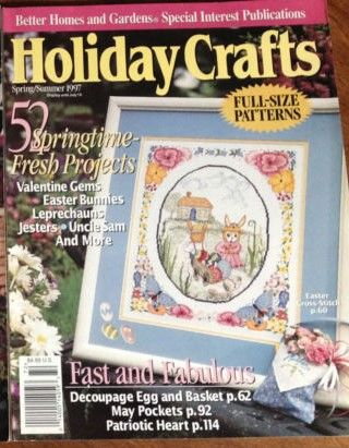 Better Homes and Gardens Holiday Crafts Spring/Summer 1997 - product images