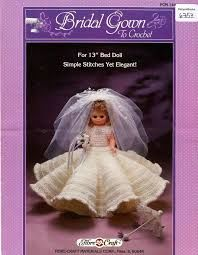 Bridal,Gown,Fashion,Classics,from,Fibre,Craft,bridesmaid Fashion Classics from Fibre Craft,13 inch  bed doll,kg krafts,crochet patterns.bed doll