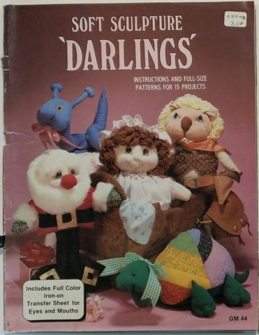 Soft,Sculpture,'Darlings',by,Carmen,Clay,gm,44,Gaylemot,publishing,Soft Sculpture 'Darlings' by Carmen Clay gm 44 Gaylemot publishing,kg krafts,sewing