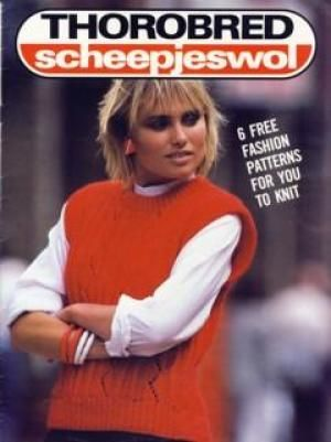 Thorobred,Scheepjeswol,6,Patterns,Thorobred Scheepjeswol 6 Patterns, Winter 1990,kg krafts,knit,crochet