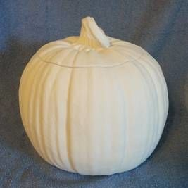 Pumpkin  unpainted Ceramic Bisque ready to paint - product images