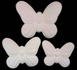 Soft,Sculpture,Butterfly,in,three,sizes,butterflies,butterfly,dona molds, ceramic bisque, ready to paint,kg krafts,shower favors