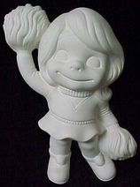 Provincial Molds Smiley Cheerleader in ready to paint ceramic bisque - product images