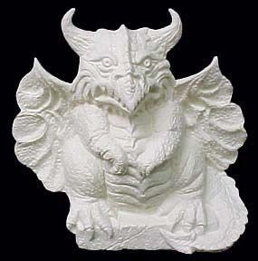 Horned,Gargoyle,Chained Gargoyle ,ceramic, Bisque, Ready to Paint,ready to finish,kg krafts