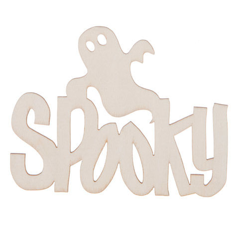 Laser Cut Wood Spooky Decorations - Unfinished - 5 x 3.25 inches - product images