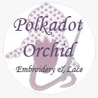 Polkadot Orchid Embroidery
