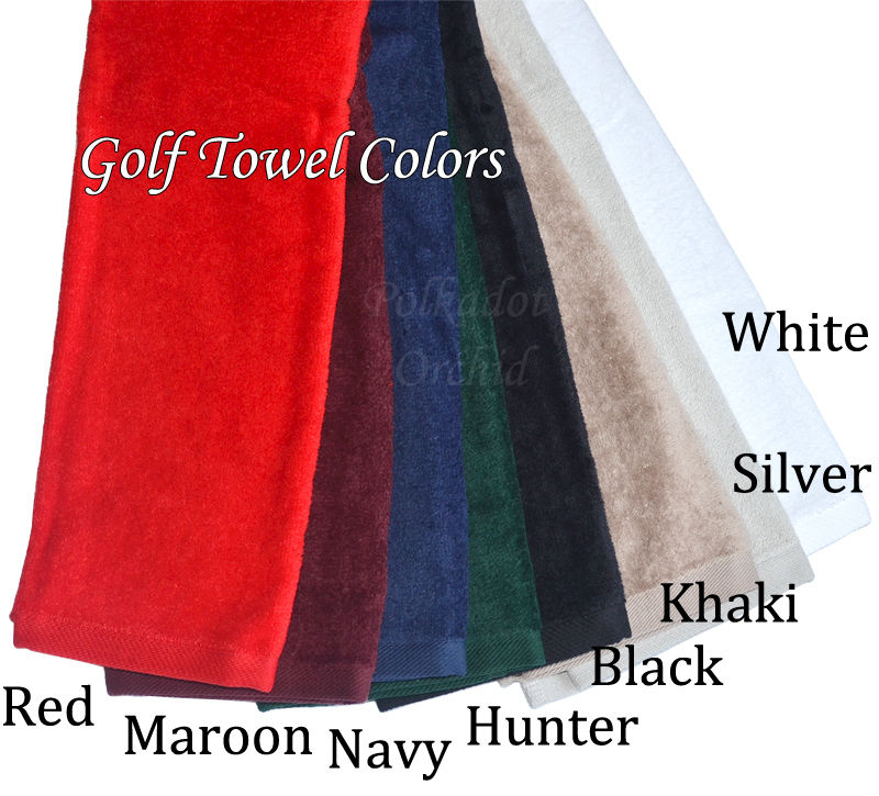 Custom Embroidered Tri-fold Golf Towel - product images  of