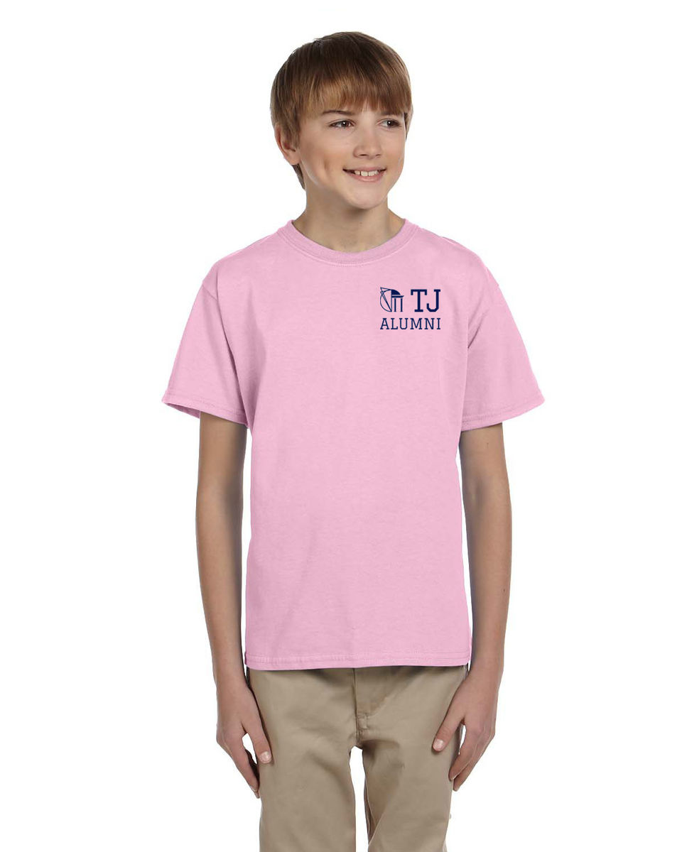 TJAA Tee - Pink & Navy - product images  of