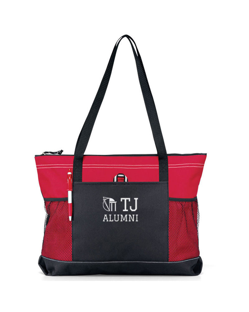 TJ Alumni Zip Tote Bags - product images  of
